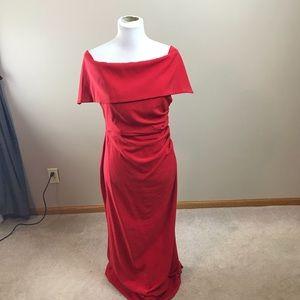 Vince Camuto Red Off The Shoulder Dress